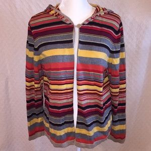 Christopher & Banks striped light hoodie sweater